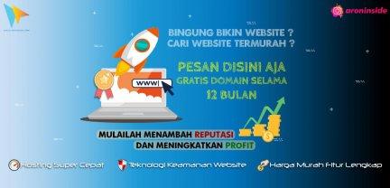 Promo Website Terbaik dan Termurah