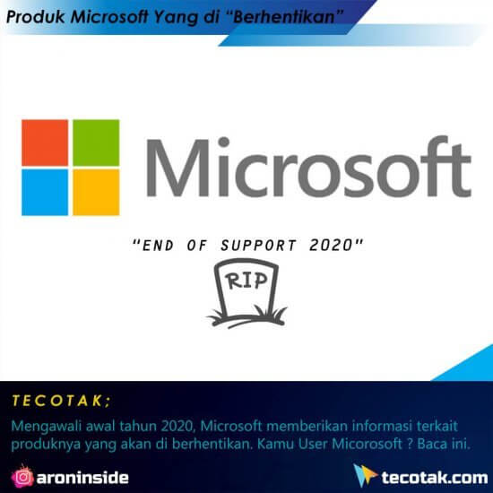 Produk Microsoft yang Berakhir Tahun 2020