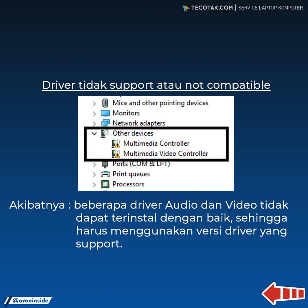 drivet not installed