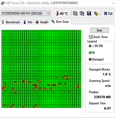 HDD Bad Sector